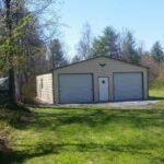 24x26-Enclosed-Garage-with-2-Garage-Doors